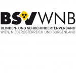Das ist das Logo des Blinden- und Sehbehindertenverband Wien, Niederösterreich und Burgenland. Die Abkürzung lautet: BSVWNB